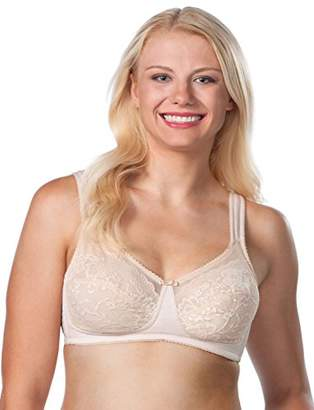 Leading Lady Women's Plus Size Dreamy Comfort Wireless Lace Soft Cup Full Figure
