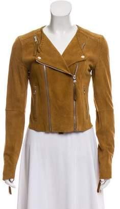 Paige Denim Suede Zip-Up Jacket
