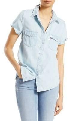 Levi's Larissa Short-Sleeve Denim Button-Down Shirt