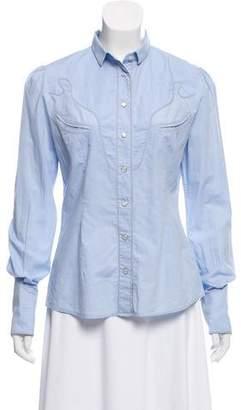 Dolce & Gabbana Long Sleeve Button Down Top