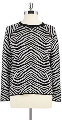 Vince Camuto Petite Crew Neck Top
