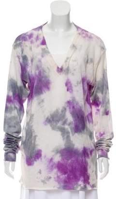The Elder Statesman Cashmere-Silk Blend Tie-Dye Sweater