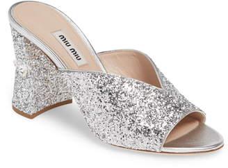 Miu Miu Rocchetto Embellished Sandal