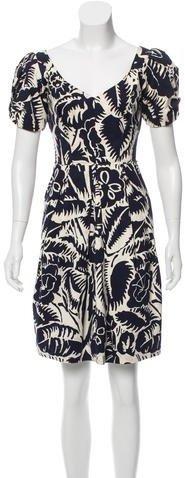 Marc JacobsMarc Jacobs Printed A-Line Dress