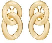 Goossens Paris Women's Fixed-Oval-Link Clip-On Earrings
