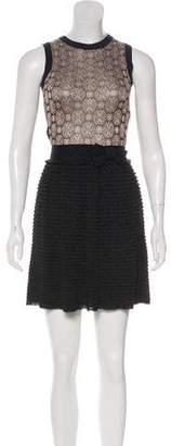 RED Valentino Sleeveless Knit Mini Dress