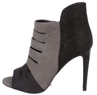 Rebecca Minkoff Suede Peep-Toe Boots