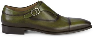 Mezlan Cartago Monk Strap Leather Shoes