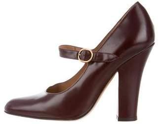 Saint Laurent Leather Mary Jane Pumps