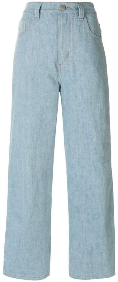 Koché Weite Jeans mit Besatzstreifen