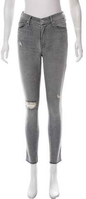 Mother Distressed Mid-Rise Jeans