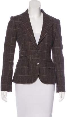 Dolce & Gabbana Wool Plaid Blazer