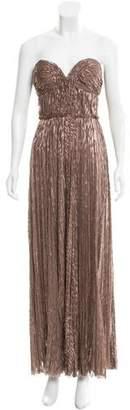 J. Mendel Strapless Jacquard Gown