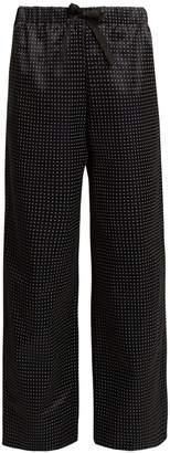 A.P.C. Lucy wide-leg dot-print cotton-blend trousers
