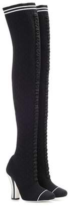 Fendi Knitted over-the-knee boots