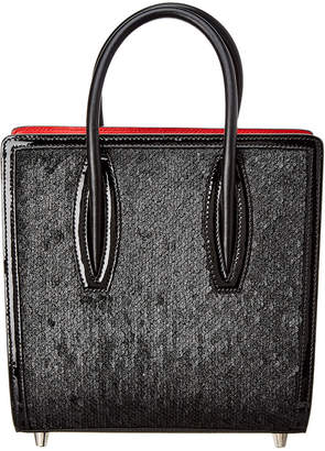 Christian Louboutin Paloma Small Paillette Leather Tote