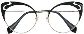 Miu Miu cut-out cat eye glasses