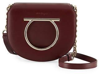 Salvatore Ferragamo Gancio Vela Leather Shoulder Bag