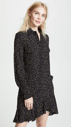 Derek Lam 10 Crosby Shirtdress With Asymmetrical Hem