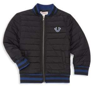 True Religion Little Boy's Quilted Bomber Jacket