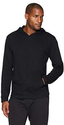 Flying Ace Men's Jersey Hooded Long Sleeve T-Shirt with Kangaroo Pouch Pocket