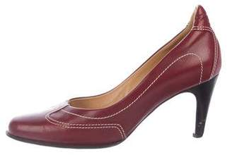 Hermes Leather Round-Toe Pumps