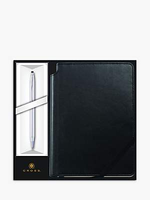 Cross Classic Century Chrome Ballpoint Pen with Black Journal