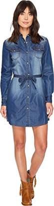 Wrangler Women's Long-Sleeve Denim shirtdress