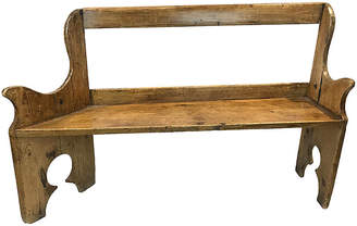 One Kings Lane Vintage French 19th-c. Pine Bench - Heather Cook Antiques