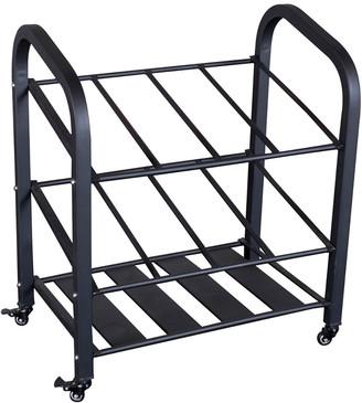 Body Solid Foam Roller & Yoga Mat Storage Cart