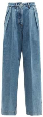 Acne Studios Pakita High Rise Pleated Wide Leg Jeans - Womens - Denim