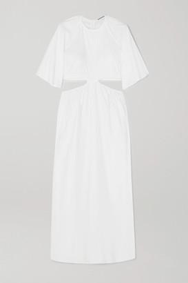 Georgia Alice Milan Cutout Cotton-poplin Maxi Dress - White