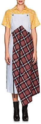 R 13 Women's Silk-Blend Patchwork Apron Dress