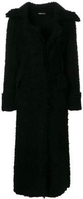 Alexander McQueen long textured coat