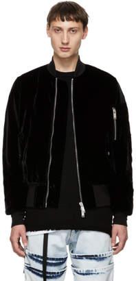 Unravel Black Velvet Basic Bomber Jacket