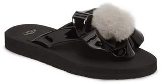 UGG Poppy Genuine Lamb Fur Slip-On Sandal (Little Kid & Big Kid)