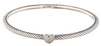 David Yurman Pavé Diamond Cable Heart Bangle