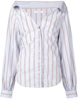 Frame striped fitted shirt