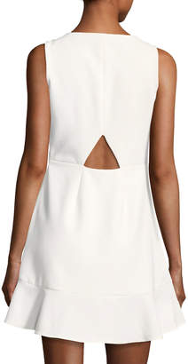 Rebecca Minkoff Tiffani Sleeveless A-Line Ponte Mini Dress