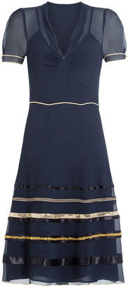 Tommy Hilfiger Silk Chiffon Dress with Sequins