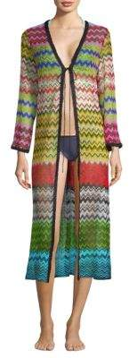 Missoni Mare Rete Lame Zig Zag Long Cardigan