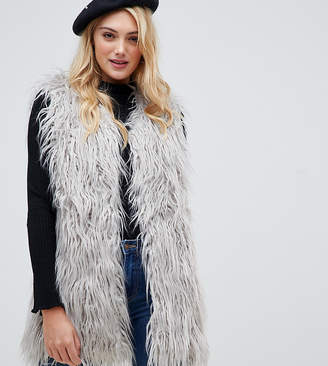 Brave Soul Tall lanzarote shaggy vest