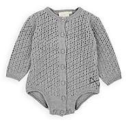 Mini Sibling Infants' Pointelle-Knit Cotton-Wool Bodysuit - Gray