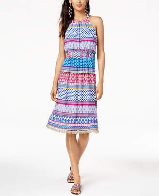 Trina Turk Smocked-Waist Brooke Halter Dress