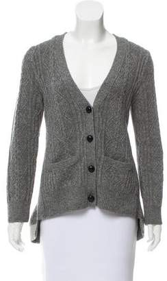 Sacai Wool High-Low Cardigan