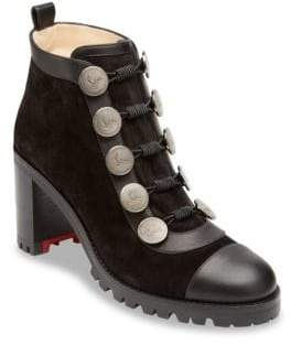Christian Louboutin Alphabouton 70 Suede Booties