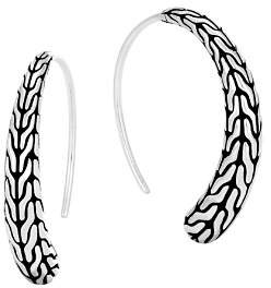 John Hardy Sterling Silver Classic Chain Silver Small Sweep Earrings