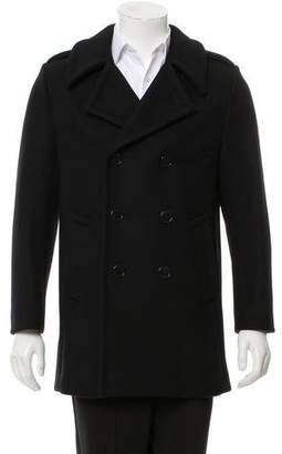 Saint Laurent Wool Double-Breasted Peacoat