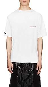 RtA Men's Skeleton-Print Cotton T-Shirt - Gray