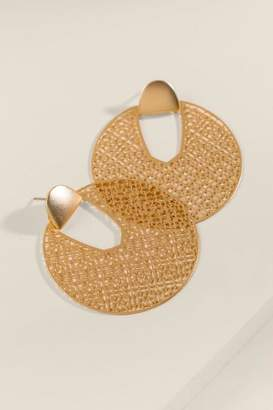 francesca's Emerie Filigree Metal Earrings - Gold